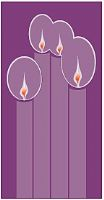 Small Advent Candle Banner