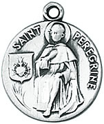 St. Peregrine Medals W/Chain