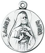 St. Rita Medal W/Chain