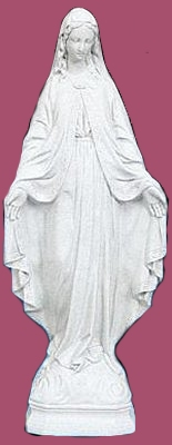 24 inch Our Lady Of Grace - White Color Finish