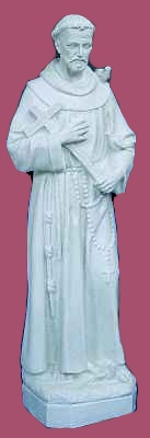 24 inch St. Francis - White Color Finish