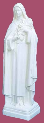 24 inch St. Theresa - White Color Finish