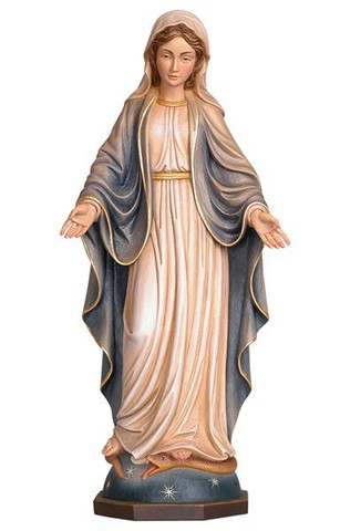 11'' Our Lady of Grace Wood Carve from Pema Art Studios