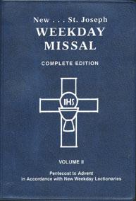 ST. JOSEPH WEEKDAY MISSAL (Vol. II/Pentecost to Advent)