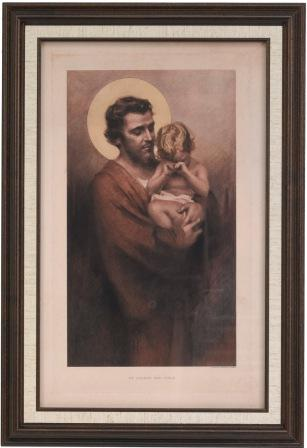St. Joseph And Child Framed Picture