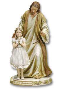 Jesus with First Communion Girl