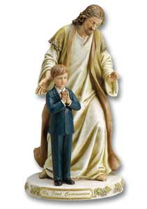 Jesus with First Communion Boy