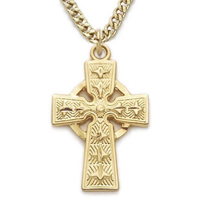 "CELTIC CROSS ON 18"" CHAIN"