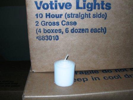10 Hr.Straight side votive