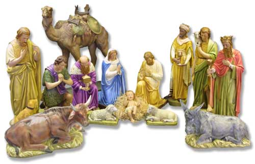 2/3 Life size nativity