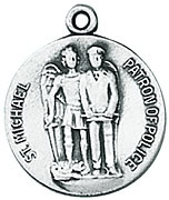 St. Michael - Police Medal W/Chain