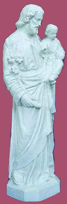 24 inch St. Joseph and Child - White Color Finish