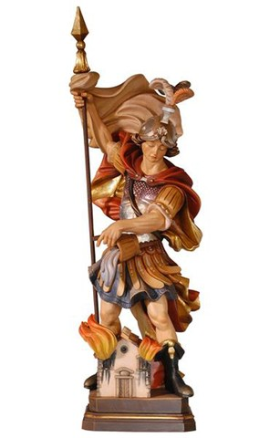 12'' St. Florian Wood Carve Statue from Italy