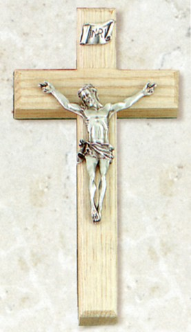 Limed Oak Crucifix 8""