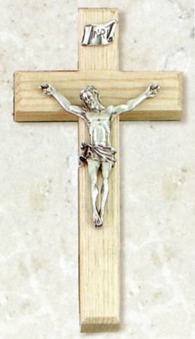 "Limed Oak Crucifix 8"""
